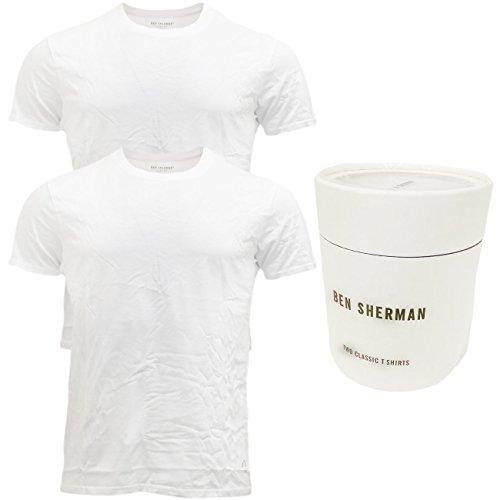 Ben Sherman -  T-shirt - Basic - Classico  - Maniche corte  - Uomo Bianco bianco