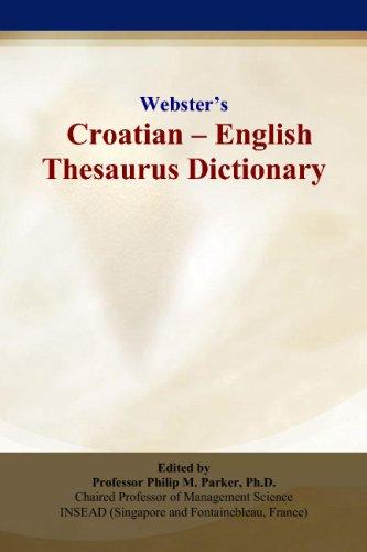 Websters Croatian - English Thesaurus Dictionary
