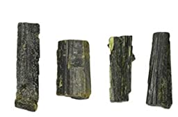 140 Ct Epidote Green 4 Crystals Minas Gerais Brazil