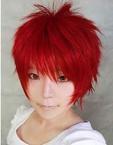 E-busienss Sabaku No Gaara Akashi Seijyuurou Red Anime Short Cosplay Costume Synthetic Wig