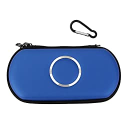 Imported Carry Case Cover Bag Game Pouch For SONY PSP 1000 2000 3000 Slim -Light blue