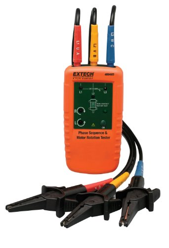 Extech 480403 Motor Rotation and 3-Phase Tester from Extech