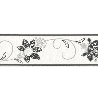 Fine Decor Anastasia Wallpaper Border White / Silver / Black from Fine Decor