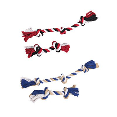 Cotton Rope Bone Dog Toys – 10 Inch Red