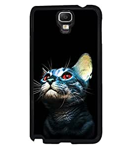 Fuson Premium Cute Kitten Metal Printed with Hard Plastic Back Case Cover for Samsung Galaxy Note 3 Neo N7505