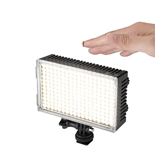 Pergear A216C AIR SWITCH Sensor LED Video Light Panel Dimmable Bi-Color On-Camera Led Light with Ultra High Light Intensity for DSLR/Camcorder/Tripod/Selfie Stick