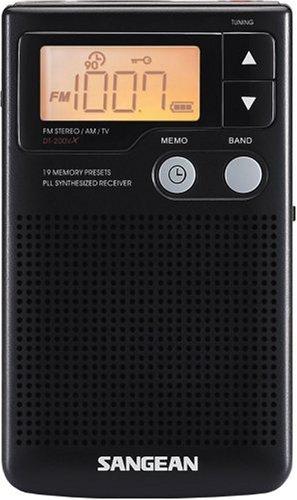Sangean DT200VX FM-Stereo/AM Audio Digital Tuning Personal Receiver