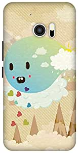 The Racoon Grip Cuteness Overload hard plastic printed back case/cover for HTC 10