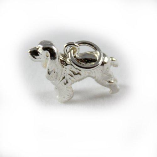 3D 925 Sterling Silver Charm - Large Cocker Spaniel - FREE UK POSTAGE
