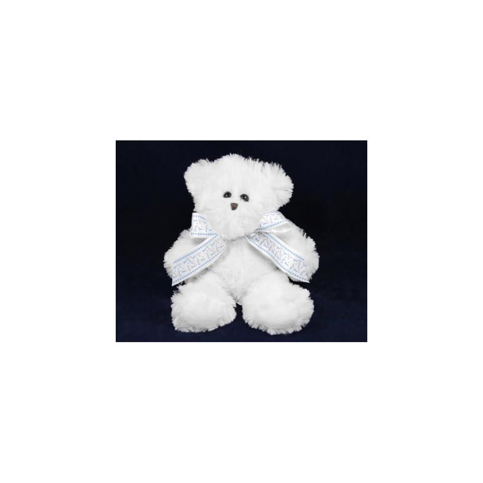 Teddy Bear with Ribbon   Light Blue Ribbon (12 Bears)