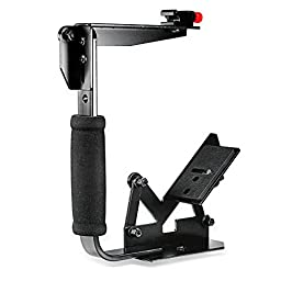 Neewer Multi-Angle Quick Flip Off Camera Flash Bracket for Digital SLR Cameras and Speedlight Flashes, such as Canon, Nikon, Olympus, Samsung, Sony and Fuji