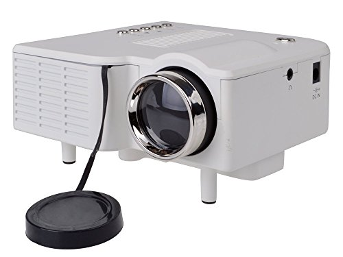 [Prime] White Hd 1080P Led Multimedia Mini Projector Home Theater Cinema Theater Av Vga Hdmi Usb Sd