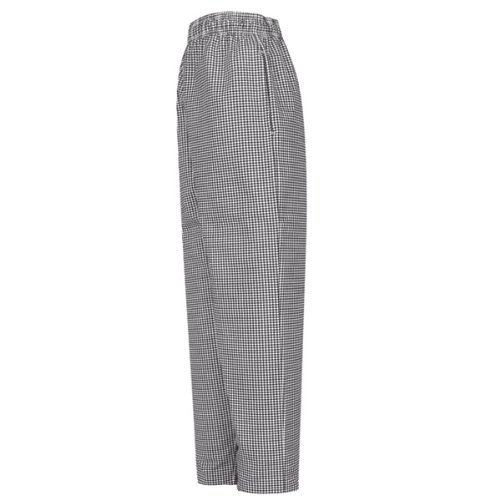 Red Kap Chef Designs Men's Baggy Chef Pant, Black/White Check, Small (Chef Pants With Side Pocket compare prices)