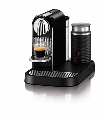 Nespresso D120-US-BK-NE CitiZ Automatic Single-Serve Espresso Maker and Milk Frother, Limousine Black