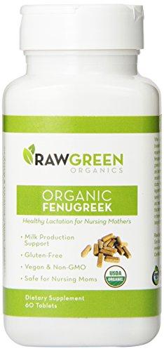 Raw Green Organics Organic Fenugreek Dietary Supplement Tablets, 3.5 Ounce