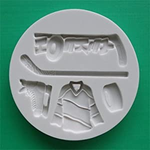 Ice Hockey Cake Decorations Uk : Ice Hockey - Silicone Icing Moulds for Cake and Cupcake ...