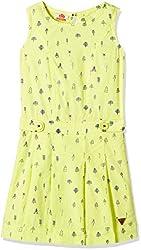 UFO Girls' Dress (AW16-WR-GKT-340_Yellow_6 - 7 years)