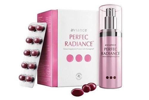 Aviance Perfec Radiance Skin Whitening & Brightening 60 Capsules + Advanced Brightening Serum 30 Ml. Best Seller Of Thailand