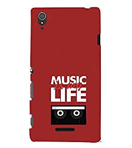 EPICCASE Music is my life Mobile Back Case Cover For Sony Xperia T3 (Designer Case)