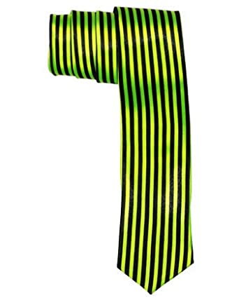 Outer Rebel Green & Black Vertical Stripe Skinny Tie