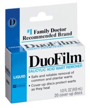 Duofilm Liquid Salicylic Acid Wart Remover – 1/3 Oz (Pack of 2)
