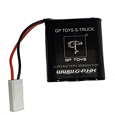 GPTOYS 2pcs 800mAh Li-ion Battery and 4pcs Universal Body Clips for GPTOYS S911 S912 RC Cars High Speed Truck Accessory Supplies