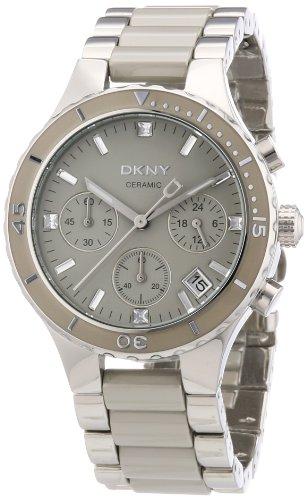 DKNY Broadway Chrono NY8505 - Reloj cronógrafo de cuarzo para mujer, correa de diversos materiales multicolor (cronómetro, agujas luminiscentes)