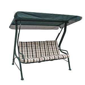 Dondolo 3 posti con tetto struttura in ferro cuscino per - Amazon dondolo da giardino ...