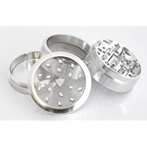 Authentic Chromium Crusher 2.5'' 4pc CNC Herbal Tobacco Herb Aluminum Grinder Silver W/ LIFE TIME WARRANTY!