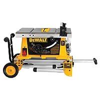 DEWALT DW744XRS 10-inch Job Site Table Saw with Rolling Stand by DEWALT