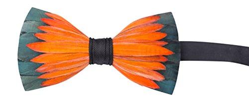 Brackish Feather Pre-tied Bow tie - Lotus (150-BRK)