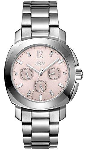 JBW  J6298D - Reloj de cuarzo para mujer, con correa de acero inoxidable, color plateado