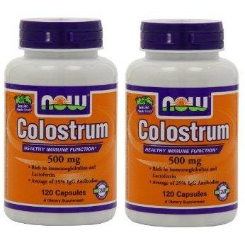 【バリュー2本セット】[海外直送品] NOW Foods コロストラム 500mg 120粒 Colostrum 500mg 120caps
