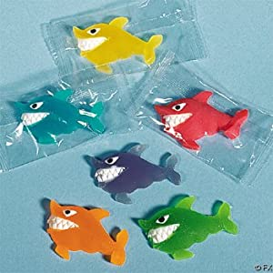 Shark Gummy Candy: great for loot bags, favors or prizes!