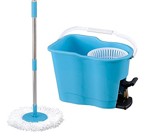 Big Deals Easy Clean Magic Miracle Spin Mop Foot Pedal with Microfiber Mop 360 Degree Spinning Mop and Easy Wring Spin Mop Hands Free Dry Mop for Personalized Use/With Free Bonus Microfiber Mop Head мойка врезная ukinox классика nor5 правая 760х435х135мм матовая
