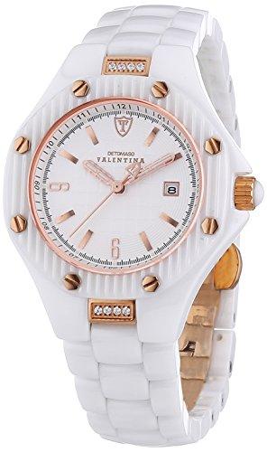 Detomaso-DT3005-B-Reloj-analgico-de-cuarzo-para-mujer-con-correa-de-cermica-color-blanco