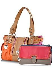 Butterflies Women's Handbag (Multi) (BNS MJ006)