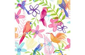 Polly Parrot Wallpaper - Multicoloured by manufacturer