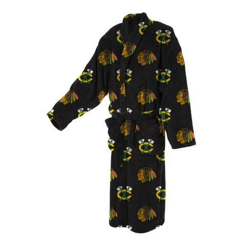 Chicago Blackhawks Men's Robe-Micro Fleece Bathrobe
