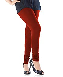 Perfect Collections Women Cotton Legging (Color: Red, Size: Free Size)