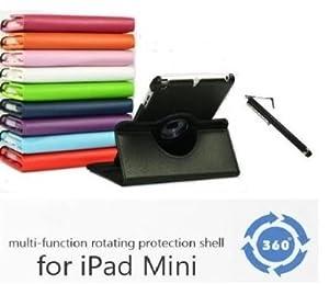 COLT ® iPad Mini étui de luxe avec Multi Functional 360 Coque - avec cordonné COLT® Stylet et Clip de écouteur - Blanc