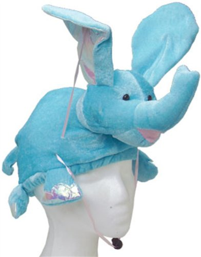New Stuffed Plush Flying Blue Elephant Hat Costume Cap