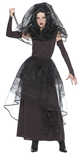 Karneval Klamotten' Kostüm Gothic Braut Dame Halloween Horror Damenkostüm 36/38