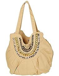 Moh Maya Women Spark Hand-held Bag, Beige