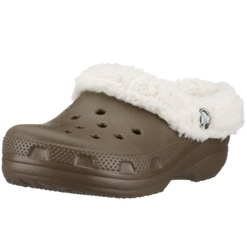 Crocs Mammoth Shearling Clog (Toddler/Little Kid),Chocolate/Oatmeal,6-7 M US Toddler