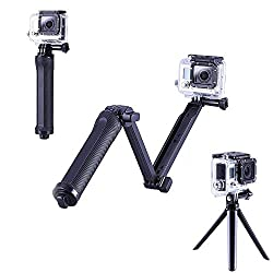Gopro 3 in 1 Adjustable Selfie Stick Extension arm, Camera Grip and Tripod - A Multipurpose Action Camera Mount