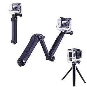 smiledrive gopro 3 in 1 adjustable selfie stick extension arm camera grip and tripod a. Black Bedroom Furniture Sets. Home Design Ideas