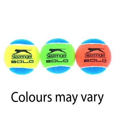 Slazenger Solo 3 Pack Tennis Ball Yellow/Blue 3 Ball