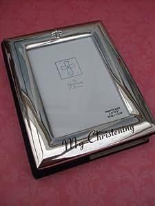 silverpaleted baby fotoalbum zur taufe. Black Bedroom Furniture Sets. Home Design Ideas