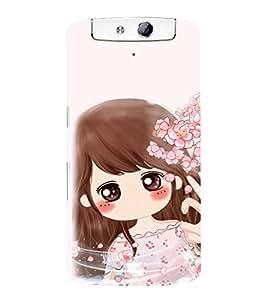 EPICCASE Dream Gril Mobile Back Case Cover For OPPO N1 (Designer Case)